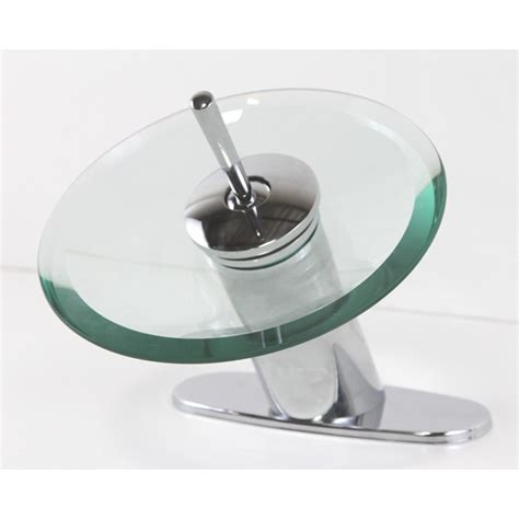 polished chrome bathroom vessel sink faucet hole cover