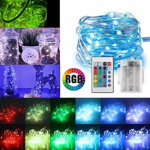 Portable Christmas Lights Walmart 16ft 50led Copper Battery Powered Multi Color Changing