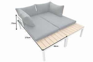 Lounge Auflagen Wetterfest : outdoor sitzgruppe orlando lounge 173cm wei grau set stahl wetterfest riess ~ A.2002-acura-tl-radio.info Haus und Dekorationen