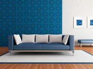 wohnzimmertapete neue vorschlage fur jeden geschmack With balkon teppich mit blaue tapete