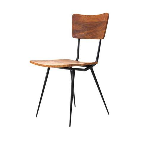 industrial metal wooden cafe chair vintage industrial