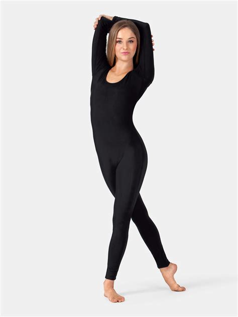 free shipping scoop neck cotton sleeve unitard by baltogs