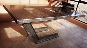 Table En Acier : cr ation d 39 une table bureau en acier et verre aix en provence nad ~ Teatrodelosmanantiales.com Idées de Décoration