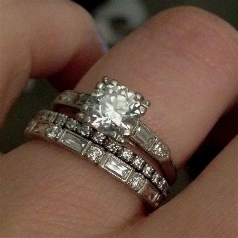 lovely combo of mismatched rings rings mismatched