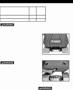 Page 16 Of Husky Air Compressor A05051 User Guide