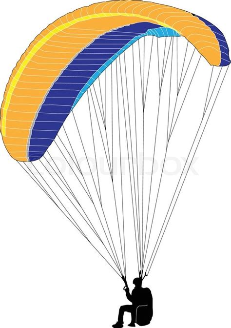 Paraglider - vector | Stock Vector | Colourbox