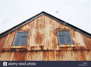 old rusting corrugated iron building in the fishing town With corrugated metal buildings for sale