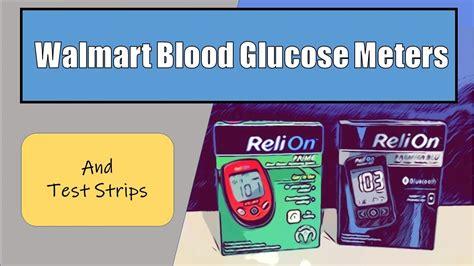 walmart blood glucose meter  test strips youtube