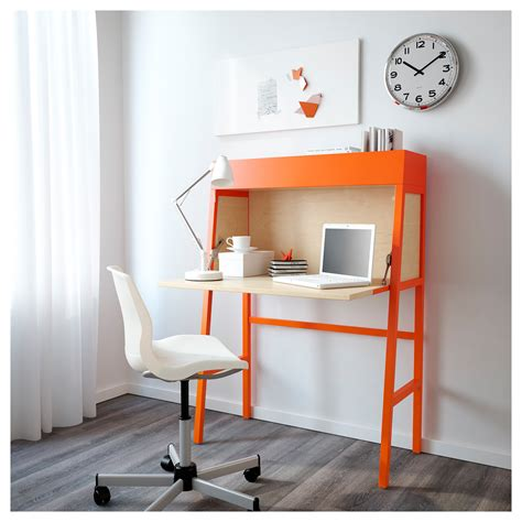 bureau ps ikea ps 2014 bureau orange birch veneer 90x127 cm ikea