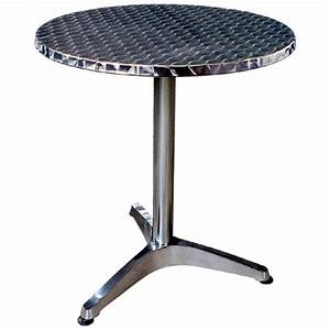 Table Ronde Bistrot Table Bistrot Alu Modle Rond Pied Central Table Ronde Bistrot Table Ronde