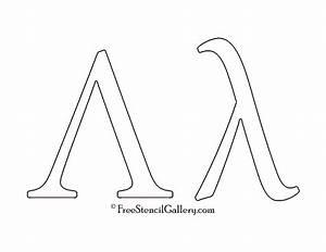 greek letter lambda free stencil gallery With greek letter cutouts