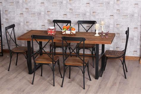 wrought iron pub table american retro dinette combination of wood wrought iron