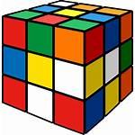 Cube Rubik Cartoon Rubiks Icon Clipart Rubix