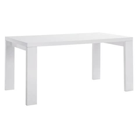 high glass dining table asper 6 seat white high gloss dining table buy now at