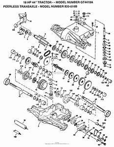 Ayp  Electrolux Gt4418a  1994  Parts Diagram For Peerless Transaxle
