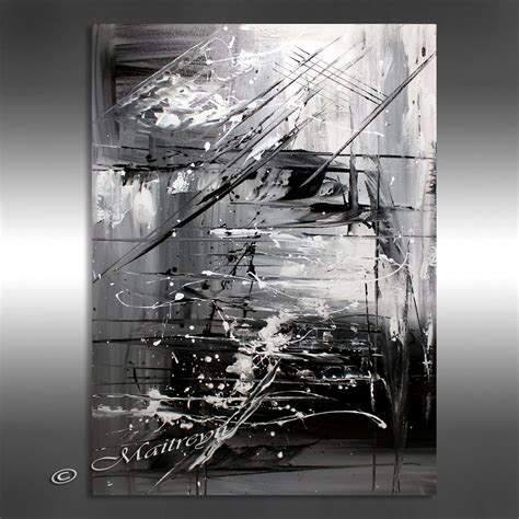 Abstract On Black Canvas by Painting Black White Abstract 40 Artwork On