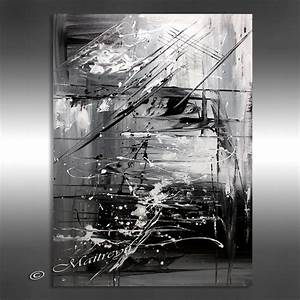 OIL PAINTING Black white Abstract Art 40 Artwork on