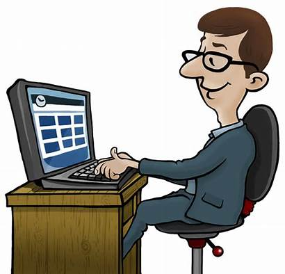 Computer Employee Clipart Computers Office Monitoring Software