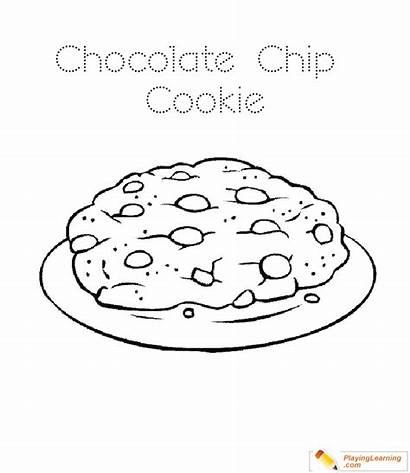 Cookie Coloring Chocolate Chip Pages Template Sheet