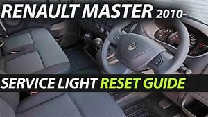 Renault Master 2010- Service Oil Light Reset Guide