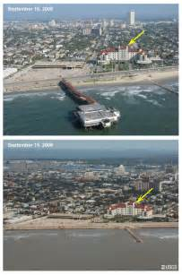 Galveston Hurricane Ike Before and After