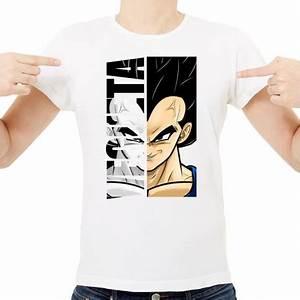 T Shirt Homme Blanc : t shirt homme blanc super h ros vegeta ketshooop t shirts anniversaires rigolos humour ~ Melissatoandfro.com Idées de Décoration