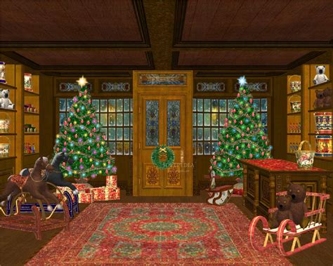 christmas gift shop animated wallpaper download