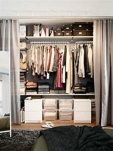 Dressing Rideau Ikea : dressing avec rideau 25 propositions pratiques et jolies ~ Dallasstarsshop.com Idées de Décoration