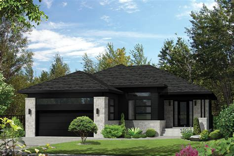 Contemporary Style House Plan   3 Beds 2 Baths 1588 Sq/Ft