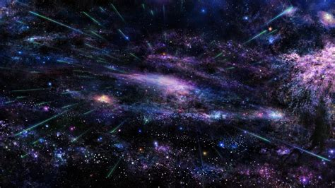 full hd wallpaper universe violet blue cluster  stars