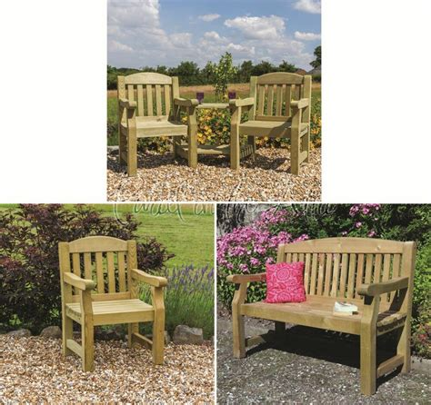 elda solid outdoor furniture garden dining table chairs companion bench ebay