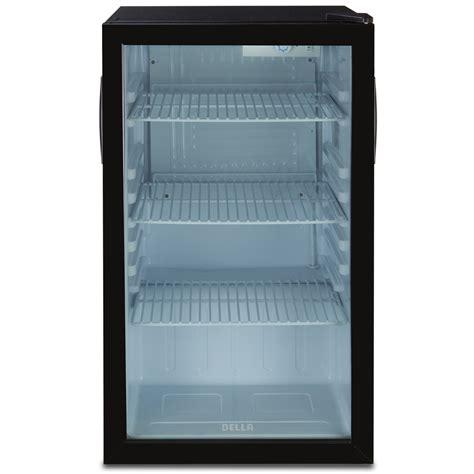 glass door mini refrigerator compact refrigerator mini fridge glass door cooler w led