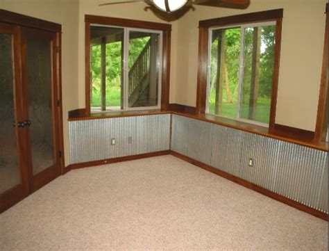 Metal Wainscoting Ideas by Corrugated Steel Wainscoting Corrugated Metal Basement