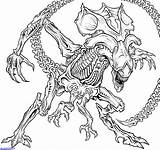 Coloring Xenomorph Alien Predator Drawing Many Queen Draw Vs Drawings A4 Battleofbrokenhill Books Space Cosplay sketch template