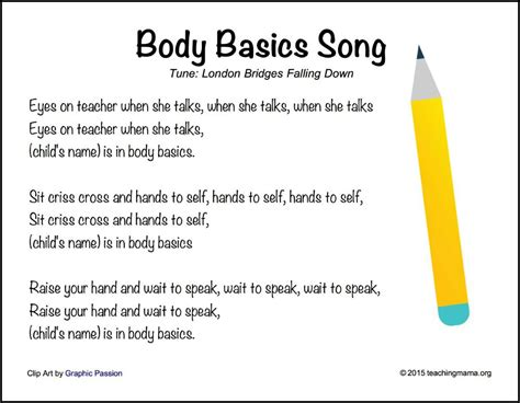 back to school songs for preschoolers 542   Body Basics Song