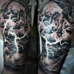 Lightning and Clouds Tattoo Design