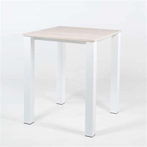 table de cuisine carree table haute de cuisine carrée en métal et stratifié