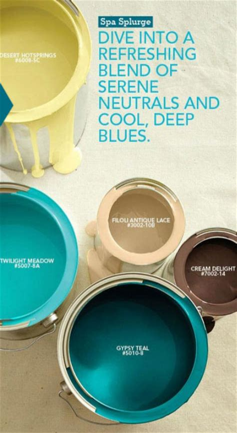 Color Palette - Spa Splurge - Interiors By Color