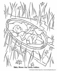 Moses Bible Story Coloring Pages Printable