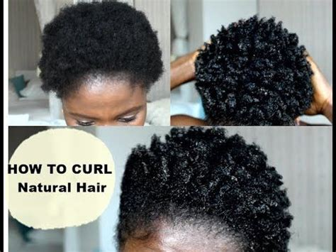 how to curl short hair 4c easy method youtube