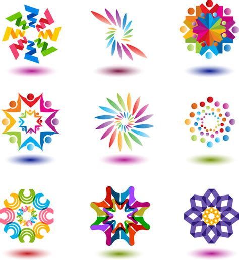 Colorful Abstract Shape For Logo Design Free Vector In