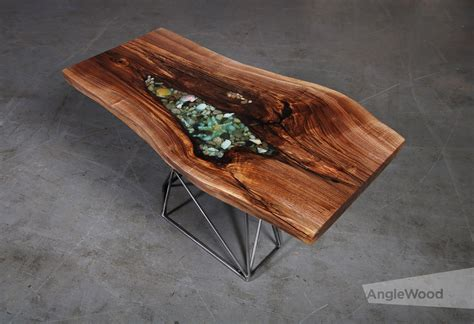 In this instructable, i'll show you how to build a live edge river coffee table, inspired by greg klassen's amazing work. Walnut Live Edge Epoxy Shell Coffee Table Geometric Base - Anglewood Live Edge Custom Furniture ...