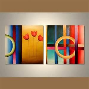 Decoration Murale Tableau : d coration murale tableau peinture tableaux contemporain tableau d coration tableux paysage ~ Teatrodelosmanantiales.com Idées de Décoration
