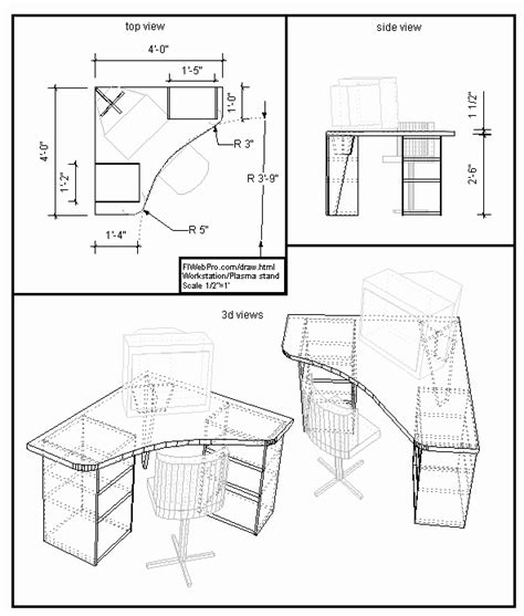 woodwork drawing furniture plans  plans