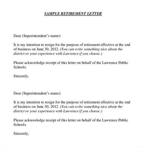 simple retirement letter 36 retirement letter templates pdf doc free 8744