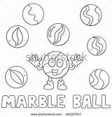 Marble Coloring Designlooter Ball Vector sketch template