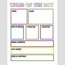 Free Vocabulary Graphic Organizer  I Love Teaching Literacy  Vocabulary, Teaching Vocabulary