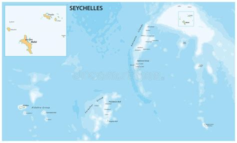seychelles vector chalk drawing map isolated   white