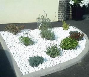 Parterre De Fleur Avec Cailloux : decoration jardin galets blancs ~ Melissatoandfro.com Idées de Décoration