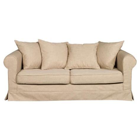 canape dehoussable canapé 3 places en tissu déhoussable aristide beige